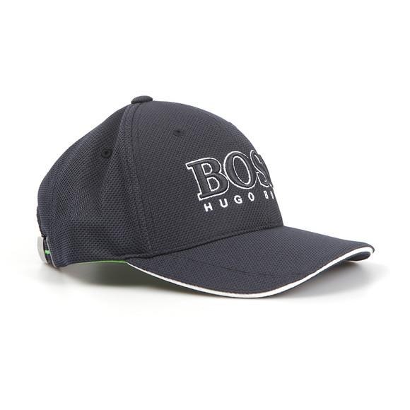 BOSS Mens Blue Large Logo Cap