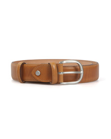 Barker Mens Brown Plain Belt