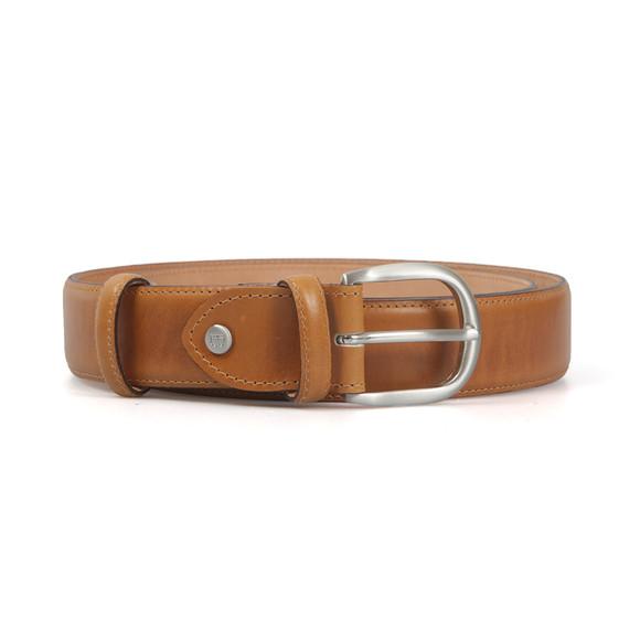 Barker Mens Brown Plain Belt