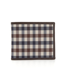 Aquascutum Mens Brown CC Wallet with Coin Purse