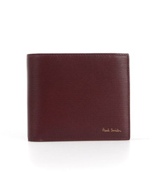 PS by Paul Smith Mens Red Saffiano Leather Billfold Wallet