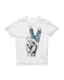 Diesel Boys White Boys Timur T Shirt