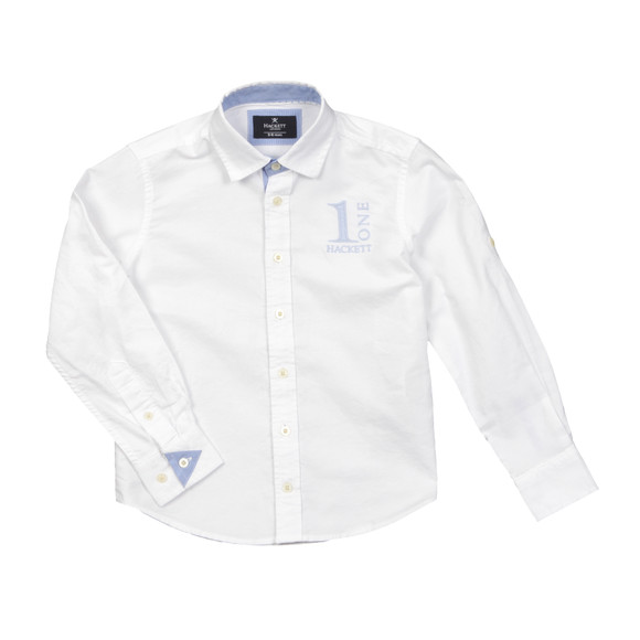 Hackett Boys White Boys Number Shirt main image