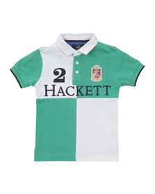 Hackett Boys White Hackett Quad Logo Polo