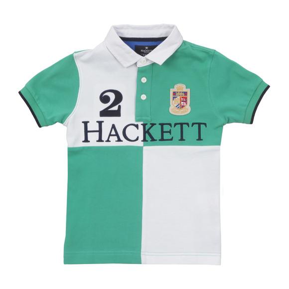 Hackett Boys White Hackett Quad Logo Polo  main image