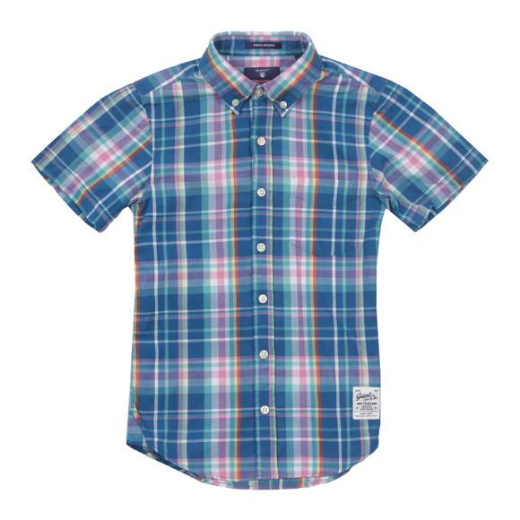 Gant Boys Blue Boys Birdie Madras Check Shirt main image