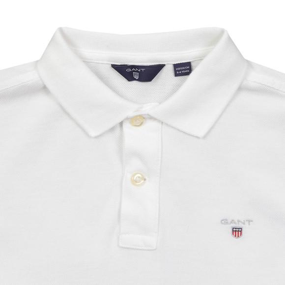 Gant Boys White Boys Original Pique Polo Shirt main image