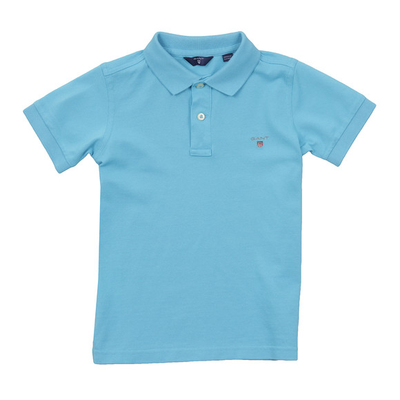 Gant Boys Blue Boys Original Pique Polo Shirt main image