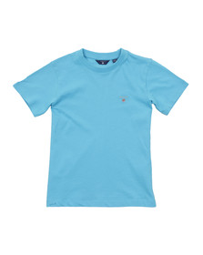 Gant Boys Blue Boys Embroidered T Shirt