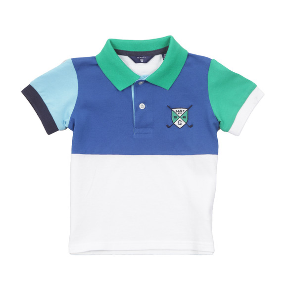 Gant Boys White Baby Colourblock Pique Polo main image