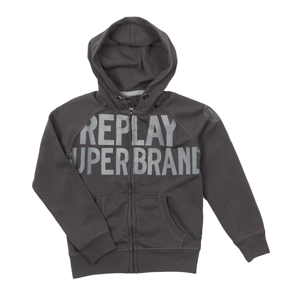 Boys Large Logo Full Zip Hoody main image