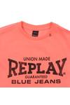 Replay Boys Orange Boys Large Logo T Shirt