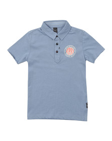 Replay Boys Blue Round Logo Polo Shirt