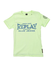 Replay Boys Green Boys Large Logo T Shirt