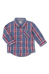 Timberland Boys Red Baby T05F55 Check Shirt