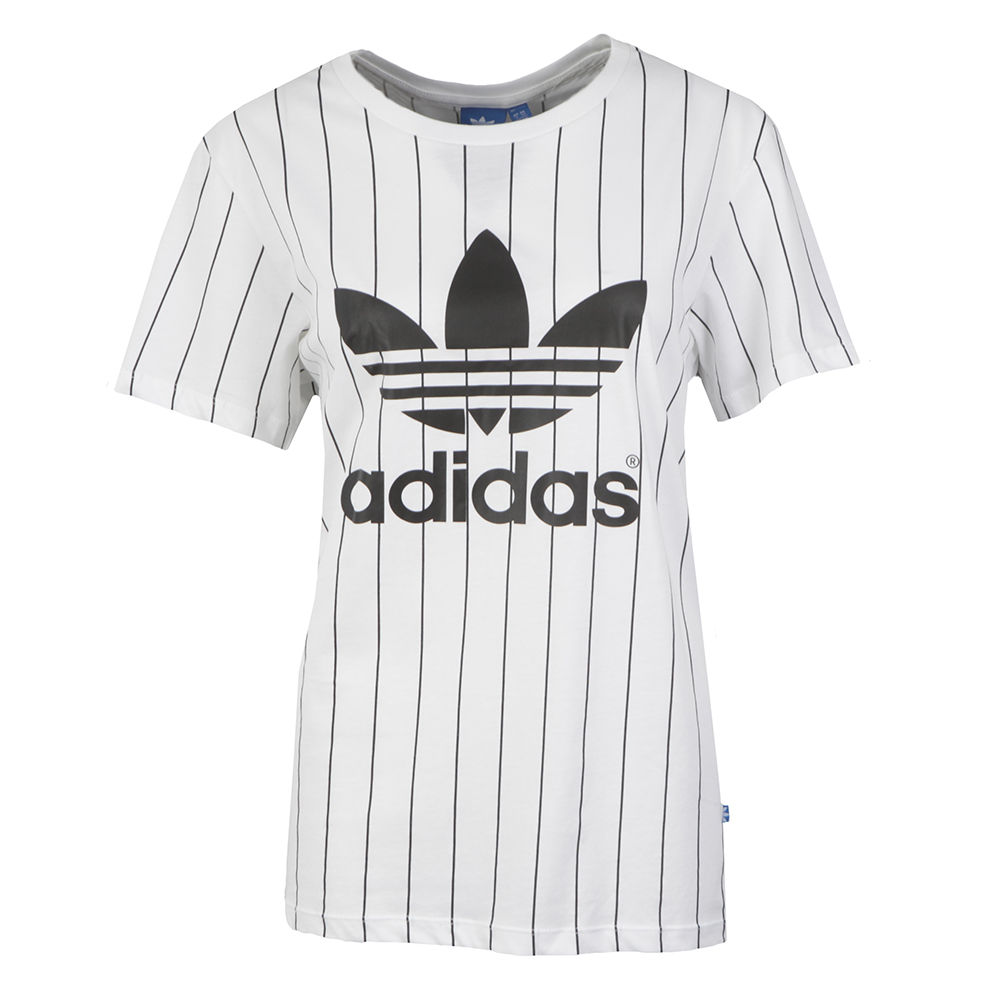 58b239e3dfd adidas Originals Womens White BF Trefoil T Shirt