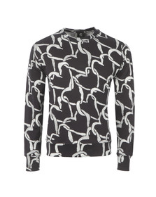Paul Smith Mens Black Linked Heart Sweatshirt