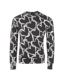 Paul Smith Mens Black Linked Heart Sweatshirt