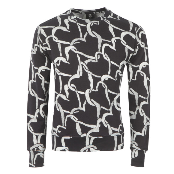 PS Paul Smith Mens Black Linked Heart Sweatshirt main image