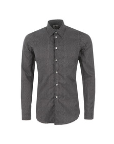 Paul Smith Mens Black Dot Patterned Shirt