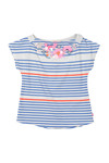 Billieblush Girls Blue Girls U15309 Stripe T Shirt