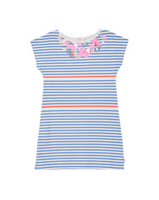 Billieblush Girls Blue Girls U12224 Stripe Dress