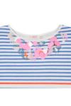 Billieblush Girls Blue Girls U12224 Stripe Dress