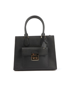 Michael Kors Womens Black Bridgette Mid EW Tote Bag