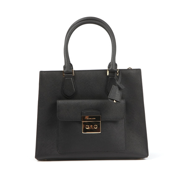 Michael Kors Womens Black Bridgette Mid EW Tote Bag main image