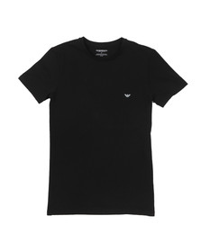 Emporio Armani Mens Black Small Logo T Shirt