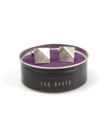 Ted Baker Mens White Corner And Lines Cufflink