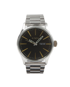 Nixon Mens Silver Nixon Sentry SS Watch