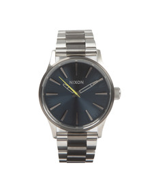 Nixon Mens Grey Sentry 38 SS Watch