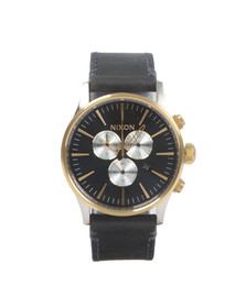 Nixon Mens Multicoloured Sentry Chrono Leather Watch