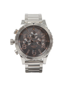 Nixon Mens Silver Nixon 48-20 Chrono Watch