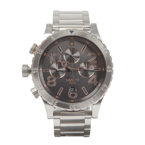 Nixon Mens Silver Nixon 48-20 Chrono Watch main image