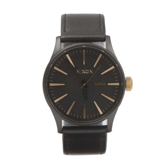Nixon Unisex Black Sentry Leather