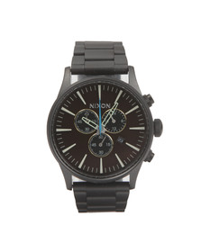 Nixon Mens Black Sentry Chrono Watch