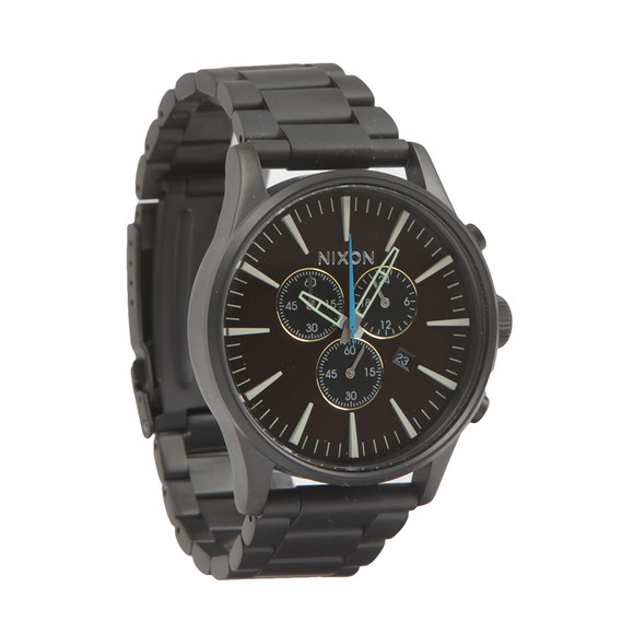 Nixon Mens Black Sentry Chrono Watch main image