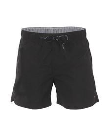 Tommy Hilfiger Mens Black Solid Swim Short
