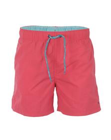 Tommy Hilfiger Mens Red Solid Swim Short