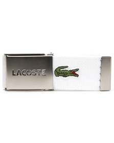Lacoste Mens White Fabric Belt RC0012