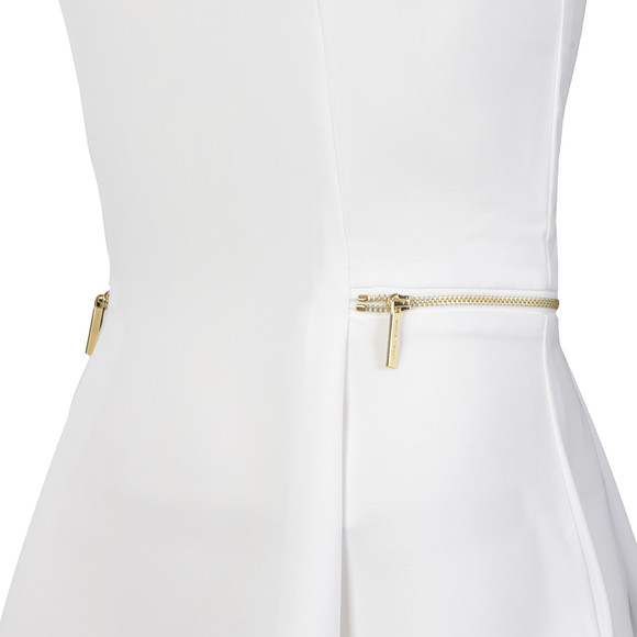 Michael Kors Womens White Sleeveless Zipper Waist Top main image