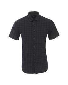 G-Star Mens Blue Landoh Short Sleeve Shirt