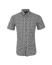 G-Star Mens Blue Check Landoh Short Sleeve Shirt