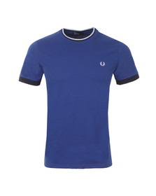 Fred Perry Mens Blue Tipped Ringer T-Shirt