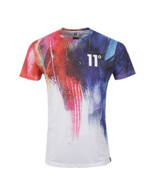 Eleven Degrees Mens White Watercolour Strike Sub T Shirt