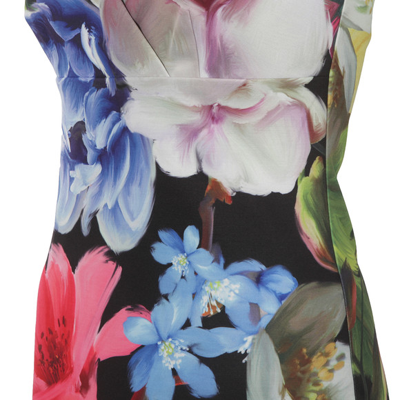 Ted Baker Womens Black Alexie Forget Me Not Floral Strap Dress main image