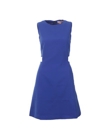 Ted Baker Womens Blue Panashe Cut Out Detail Tunic Dress