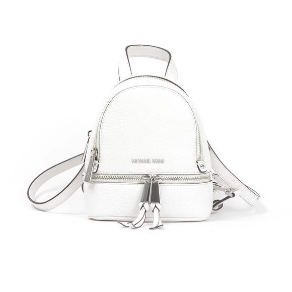 Michael Kors Womens White Rhea Zip XS Messenger Backpack main image